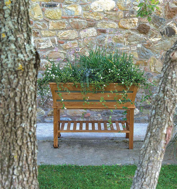 Matì - fioriera rettangolare - Fioriera in legno Ethimo