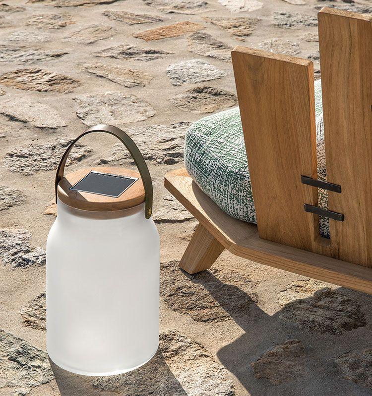 Milk - Lampada solare - Lampada da tavolo per esterno Ethimo