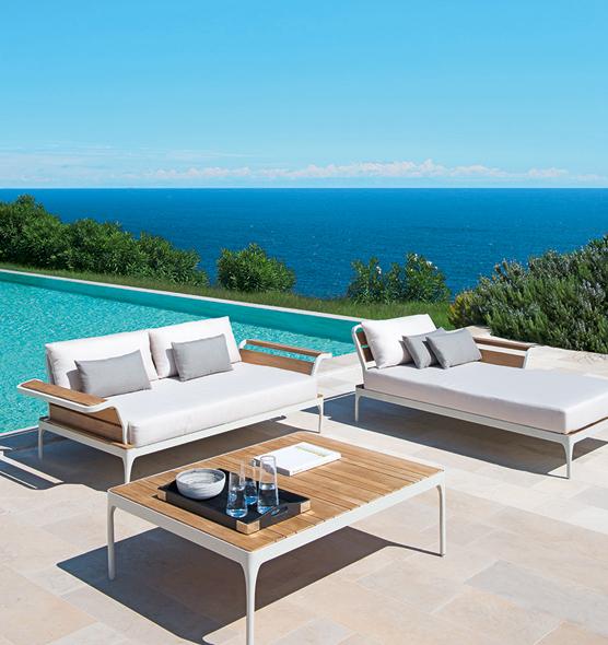 Tavolino Meridien - tavolino per giardino in teak e alluminio Ethimo