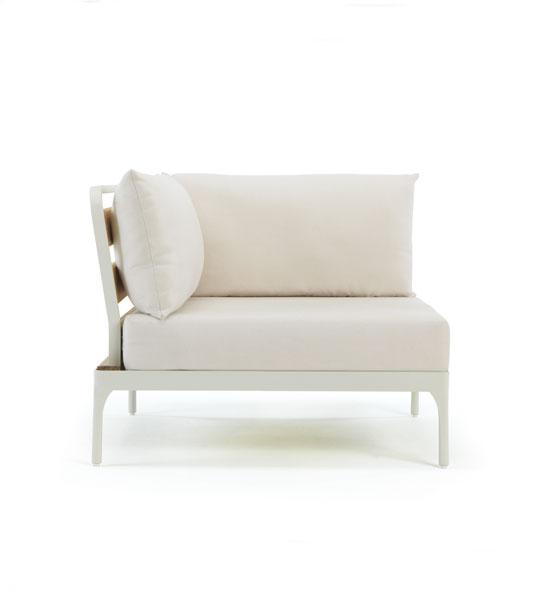 Modulo angolare per divano Meridien - Elemento ad angolo per divano componibile Ethimo