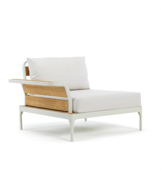 Modulo d'angolo con bracciolo Meridien - Elemento angolare con bracciolo per divani da giardino Ethimo