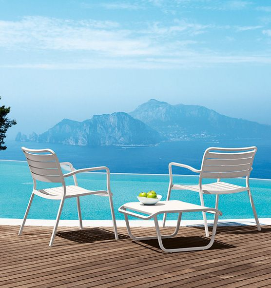 Poltrona per zona lounge Ocean - poltrona in alluminio da giardino Ethimo