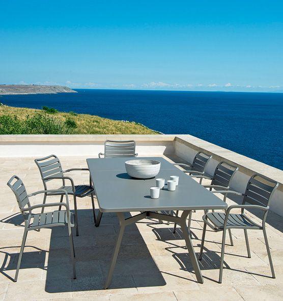 Tavolo rettangolare Ocean - tavolo raffinato in alluminio, per esterni, allungabile Ethimo