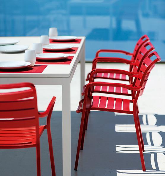 Flat – Tavolo allungabile da giardino - Tavolo rettangolare in metallo Ethimo