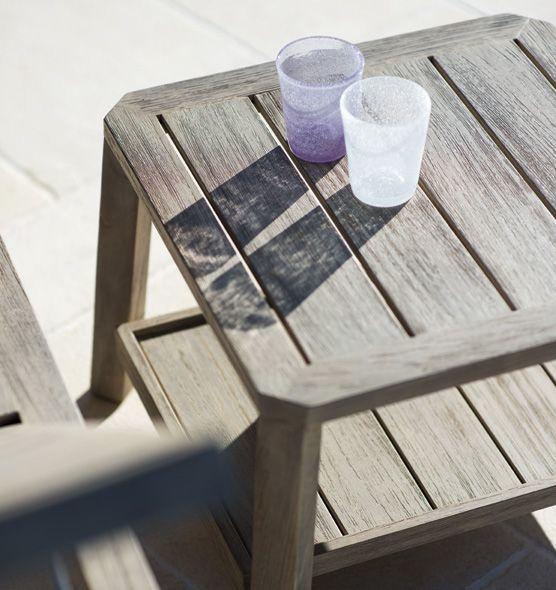 Tavolino basso quadrato in teak Petit Club - Tavolo basso da giardino Ethimo