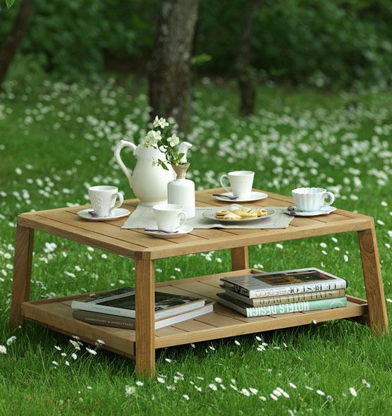 Tavolino basso rettangolare in teak Petit Club - Tavolo basso rettangolare per esterni Ethimo