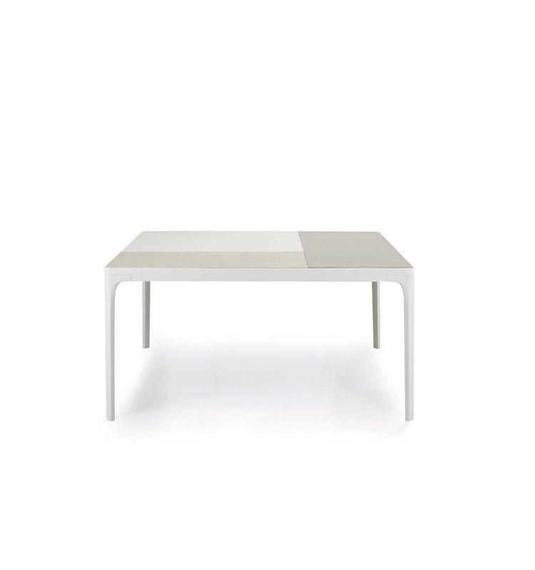 Tavolo quadrato grande da giardino con top in teak for Tavolo quadrato grande