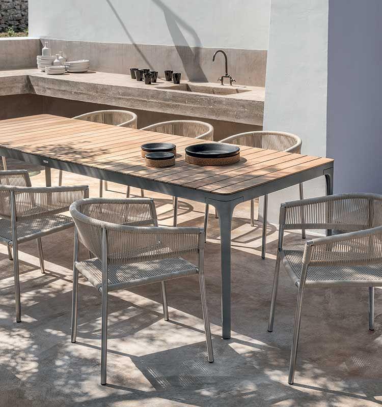 Kilt – Poltroncina dining - Poltroncina da giardino in acciaio Ethimo