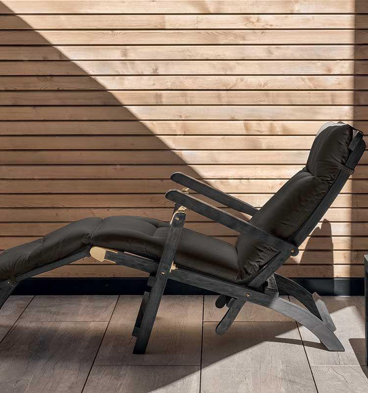 Cruise – Chaise longue - Sedia a sdraio pieghevole con poggiapiedi Ethimo