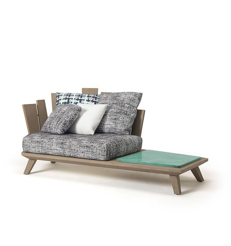 Rafael - Poltrona lounge con tavolino - Poltrona in teak con tavolo basso Ethimo
