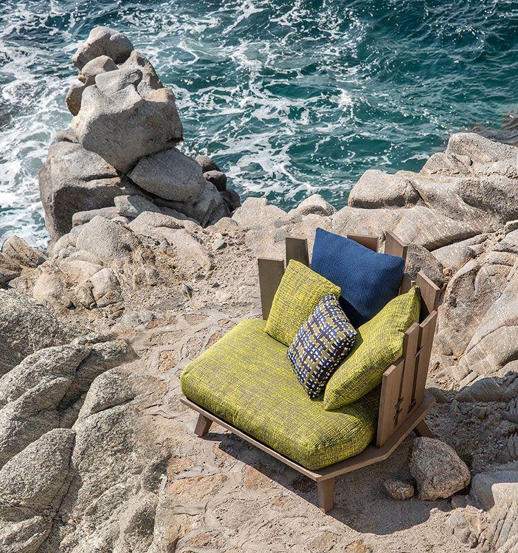 Rafael - Poltrona lounge - Poltrona da giardino in teak Ethimo