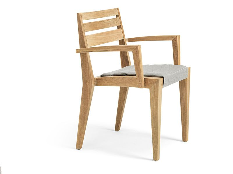 Ribot Dining armchair - Poltroncina dining in Teak Naturale Ethimo