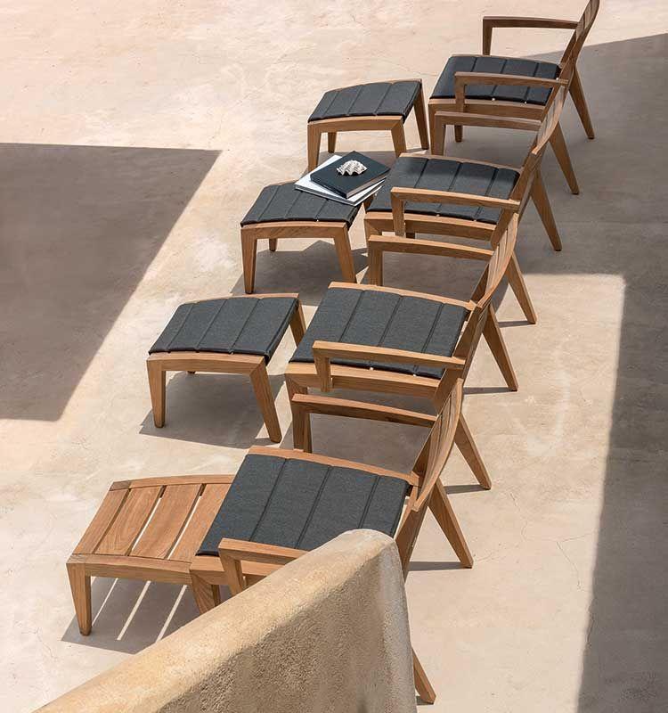 Ribot – Poltrona lounge - Poltrona lounge in teak naturale Ethimo