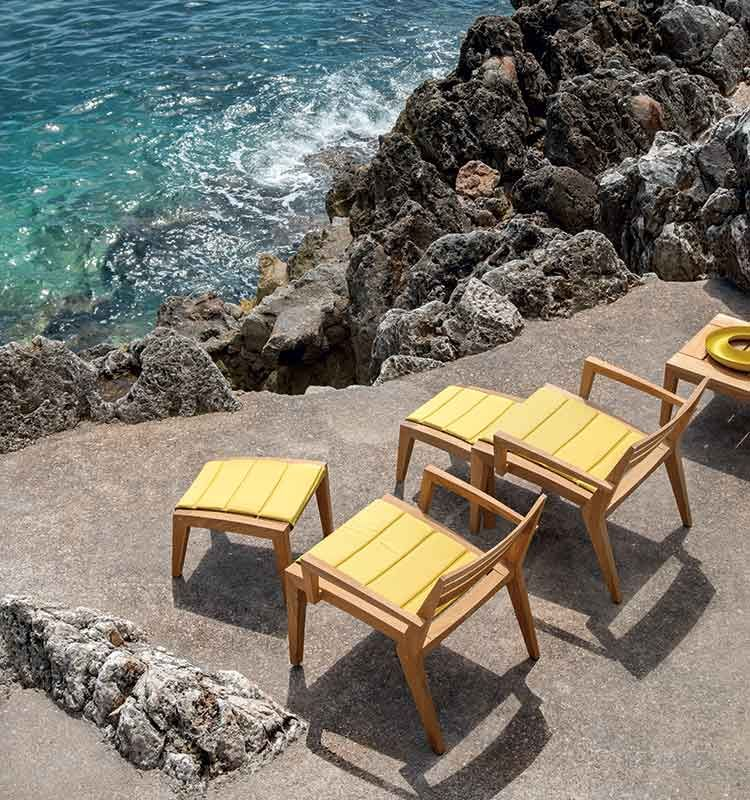 Ribot – Cuscino per poggiapiedi - Cuscino in acrilico Ethimo