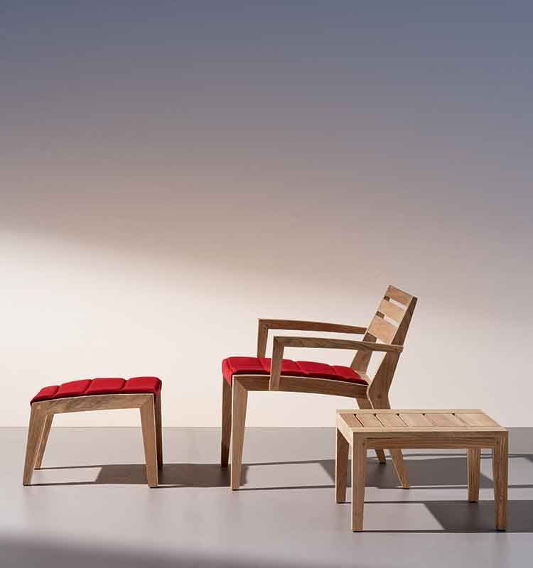 Ribot – Tavolino 50x50 cm - Tavolo basso da giardino Ethimo