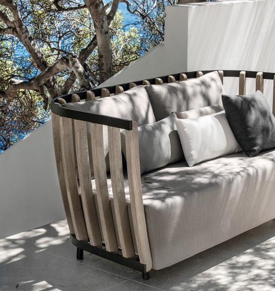 Swing – Divano da giardino a 2 posti - Divano in teak e alluminio Ethimo