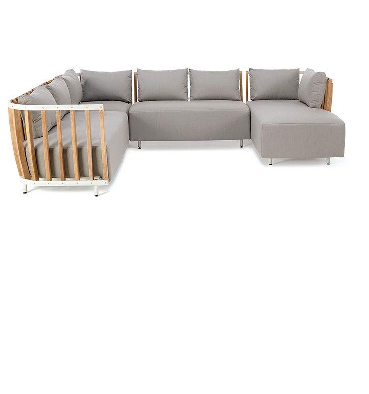 Swing – Daybed in alluminio e teak - Lettino prendisole per esterni Ethimo