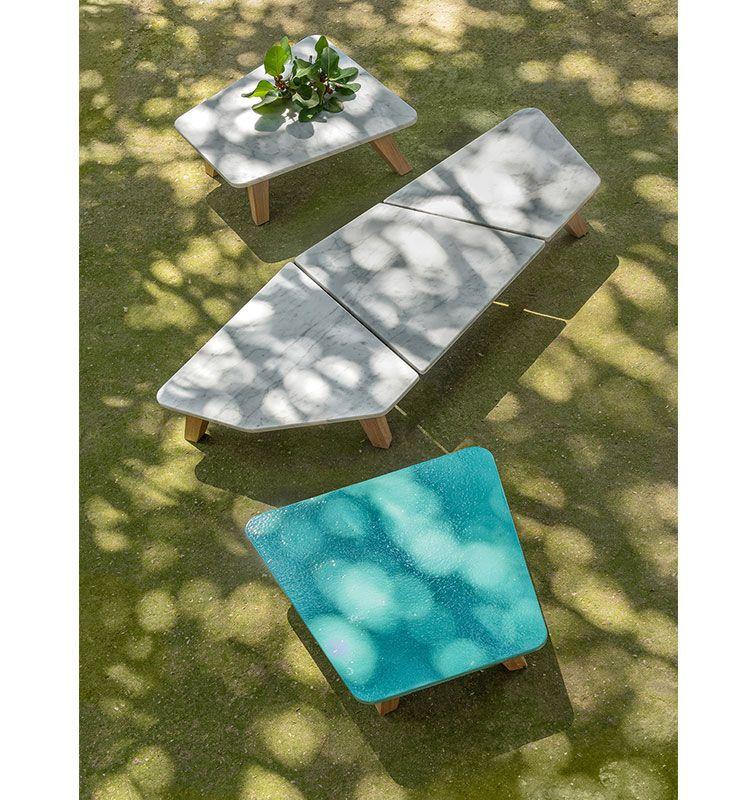Rafael - Tavolo basso 68x70 - Tavolino per esterno in teak Ethimo