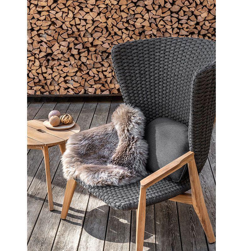 Knit – Poltrona lounge - Poltrona da giardino con schienale alto Ethimo