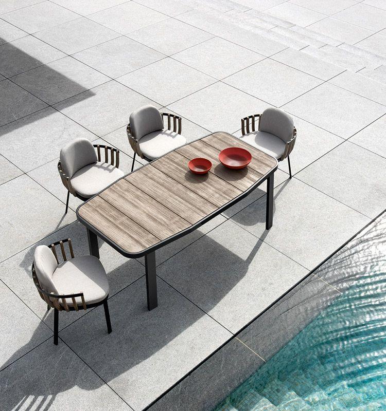 Swing – Tavolo 190x90 - Tavolo da giardino  in teak e alluminio Ethimo
