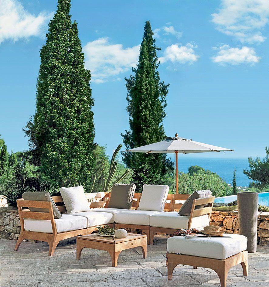 Schenale per elemento modulare Village - Schienale per divano da esterno Ethimo