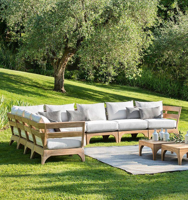 Angolo per divano Village - Modulo angolare per divano da esterno Ethimo