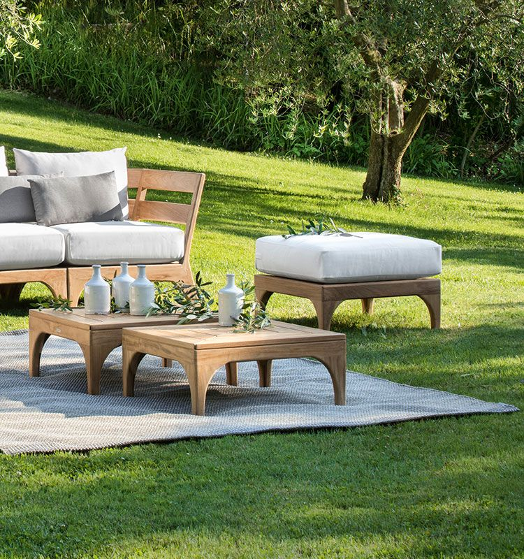 Villlage – Pouf da giardino - Pouf per divani da esterno e moduli Village Ethimo