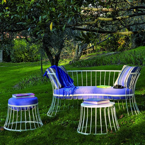 Clessidra – Pouf - pouf da giardino in alluminio Ethimo