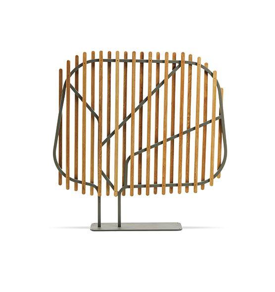 Clostra – Schermatura - Divisorio in teak e metallo 145x145 Ethimo
