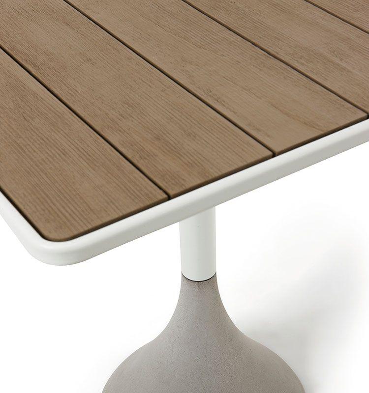 Concreto – Tavolo quadrato 60x60 h105 - Tavolo alto da giardino Ethimo