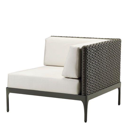 Modulo angolare per divano Infinity - Angolo destro/sinistro per divano da esterni Ethimo