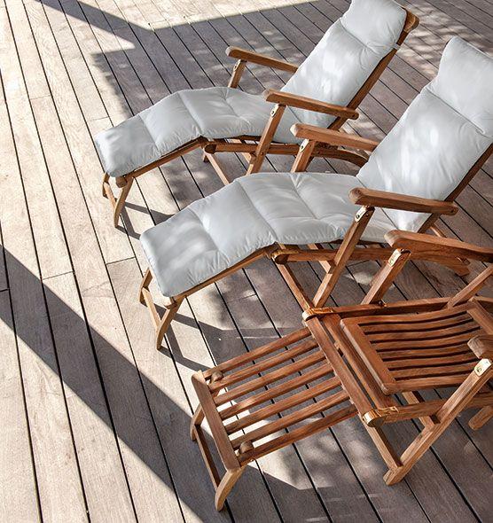 Materassino per chaise longue da giardino lettini da - Chaise longue da esterno ...