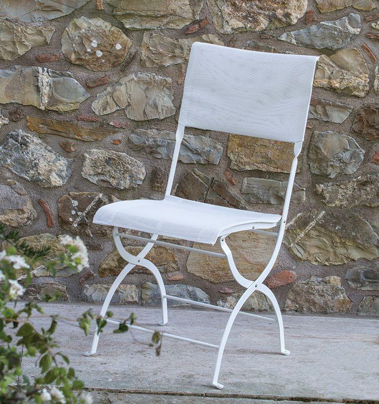 Elisir - Sedia pieghevole metallo/textplast - Sedia da giardino in metallo e texplast Ethimo