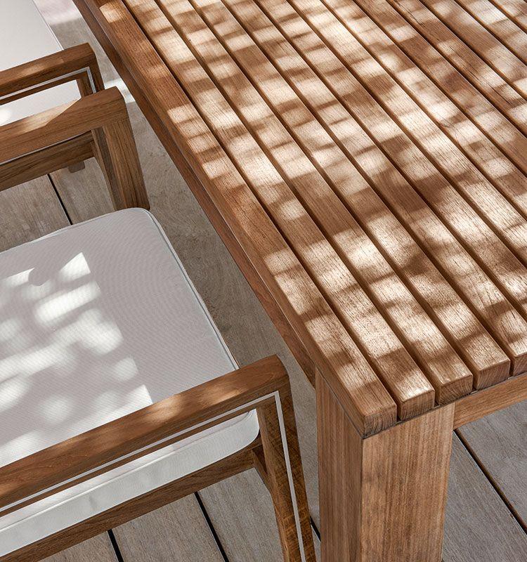 Essenza – Tavolo rettangolare - tavolo da giardino in teak Ethimo
