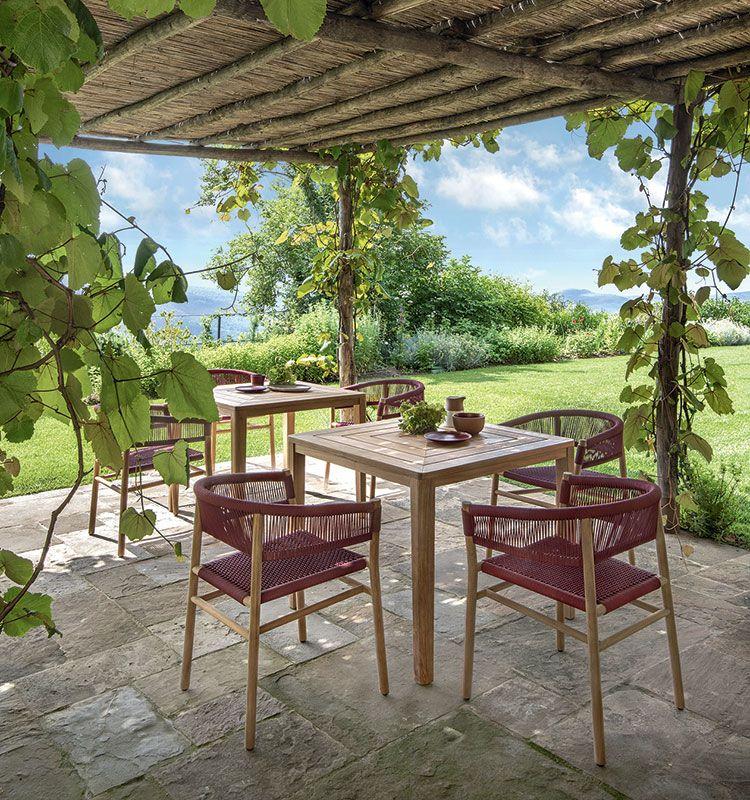 Kilt – Poltroncina dining in teak - Poltroncina da giardino in teak Ethimo