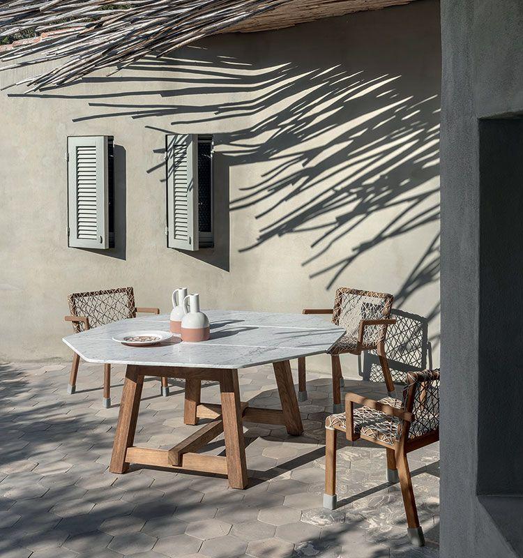 Rafael - Tavolo dining ottagonale 160x160 - Tavolo ottagonale da giardino in teak Ethimo