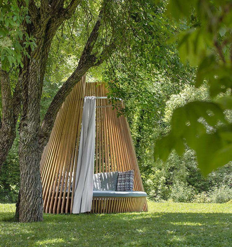 Hut - Alcova Ø3m - Letto da giardino rotondo Ethimo