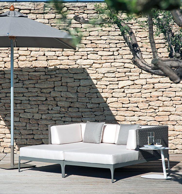Free – Ombrellone rettangolare - Ombrellone con palo centrale 3X2 m Ethimo