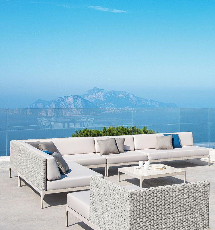 Angolo XL della collezione Infinity - Modulo angolare extralarge per divano da giardino Ethimo