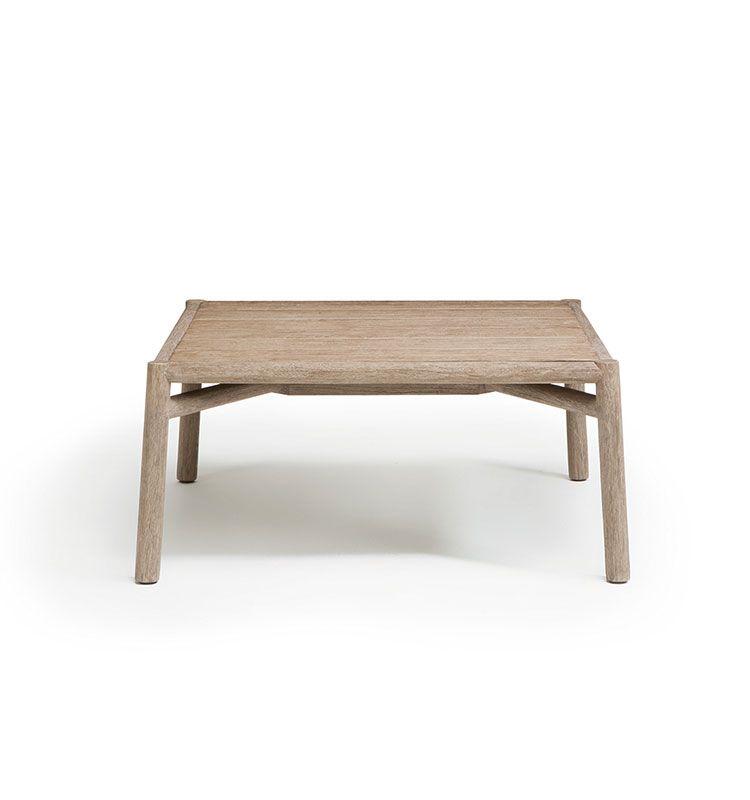 Kilt - Coffee table 65x65 - Tavolo basso da giardino in teak Ethimo