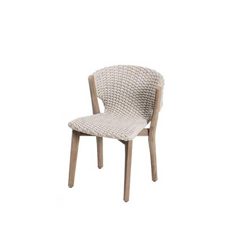 Knit – Sedia dining - Sedia da giardino in legno e corda intrecciata Ethimo