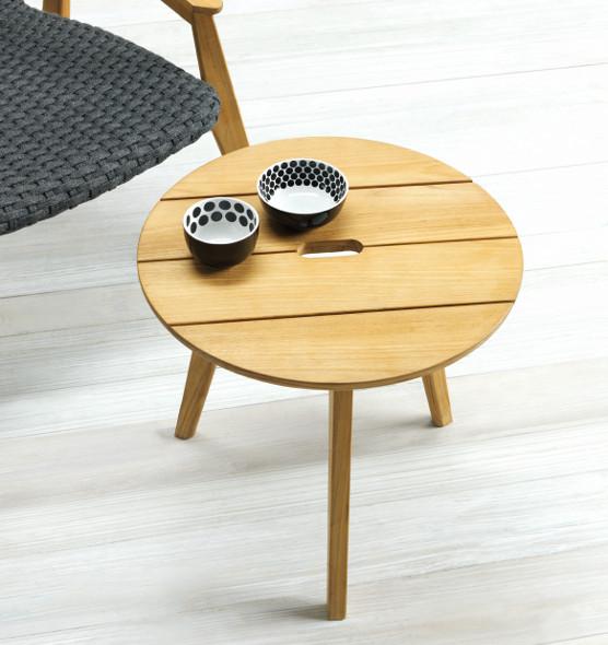Knit – Tavolino rotondo - Tavolo basso in teak Ø 50 Ethimo