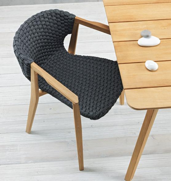 Knit - Poltroncina dining - Sedia da giardino con braccioli Ethimo