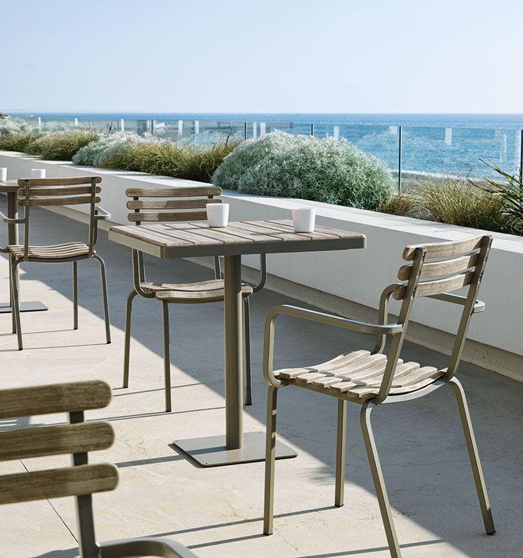 Tavolo quadrato per esterni Laren - Tavolo 70x70cm da giardino Ethimo