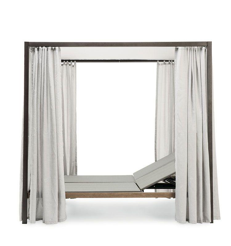 Allaperto Urban – Lounge bed - Lounge bed con baldacchino e tende Ethimo