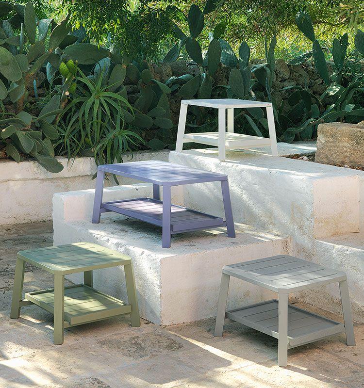 Petit Club - Coffee table quadrato - Tavolo basso da giardino Ethimo