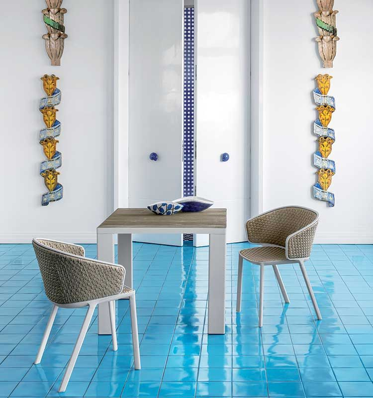 Esedra – Tavolo quadrato 90x90 - tavolo da giardino Ethimo