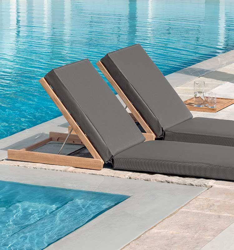 Sandy – Schienale regolabile con materassino - Schienale per giardino o bordo piscina Ethimo