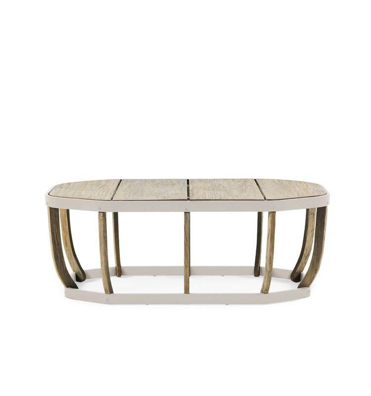Swing – Tavolino basso - Tavolo basso in teak e alluminio Ethimo