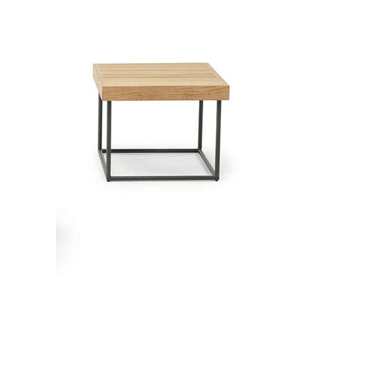 Allaperto Mountain / <small>Tartan</small> – Tavolo basso 50x50 - Tavolino da esterno 50x50 Ethimo